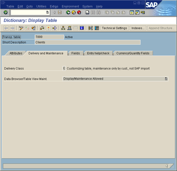 Delivery Class in SAP TABLE