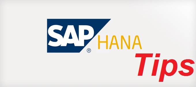 SAP HANA Tips