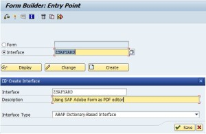 SAP Adobe Interface