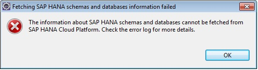 Cannot connect to HANA Cloud Platform
