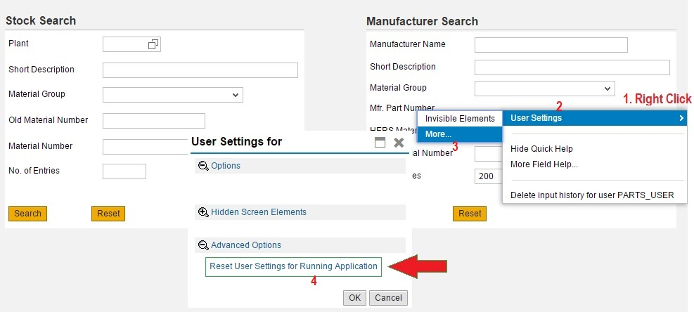 Reset User Setting in Web Dynpro ABAP