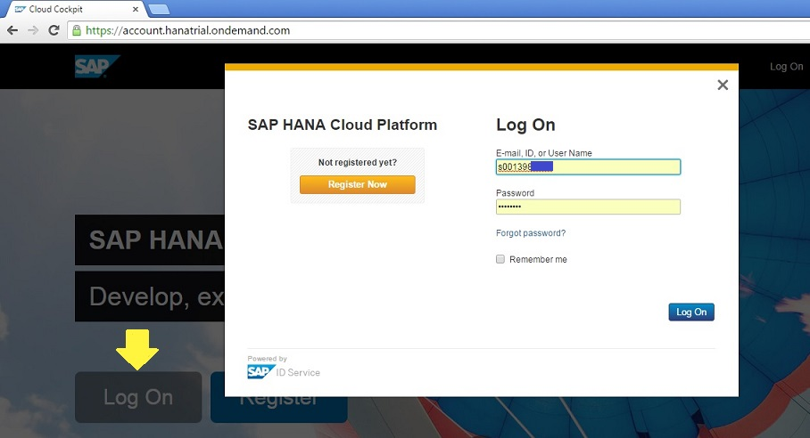 Access HANA database free