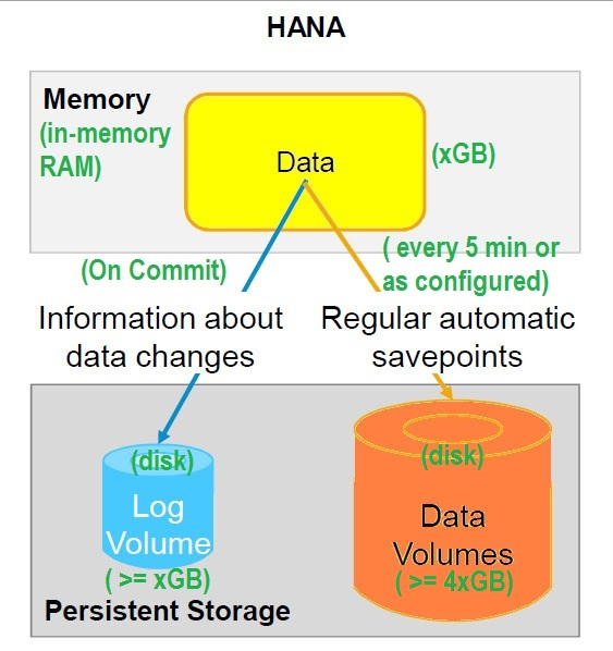 SAP HANA Persistent Layer