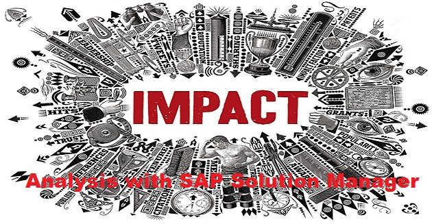 Change Impact Analysis with SAP Solution Manager
