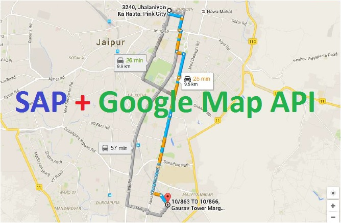 Get Latitude and Longitude of any place using Google Map API in SAP