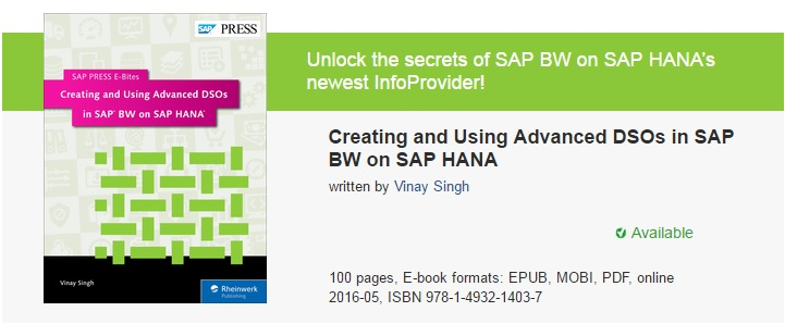 Creating and Using Advanced DSOs in SAP BW on SAP HANA