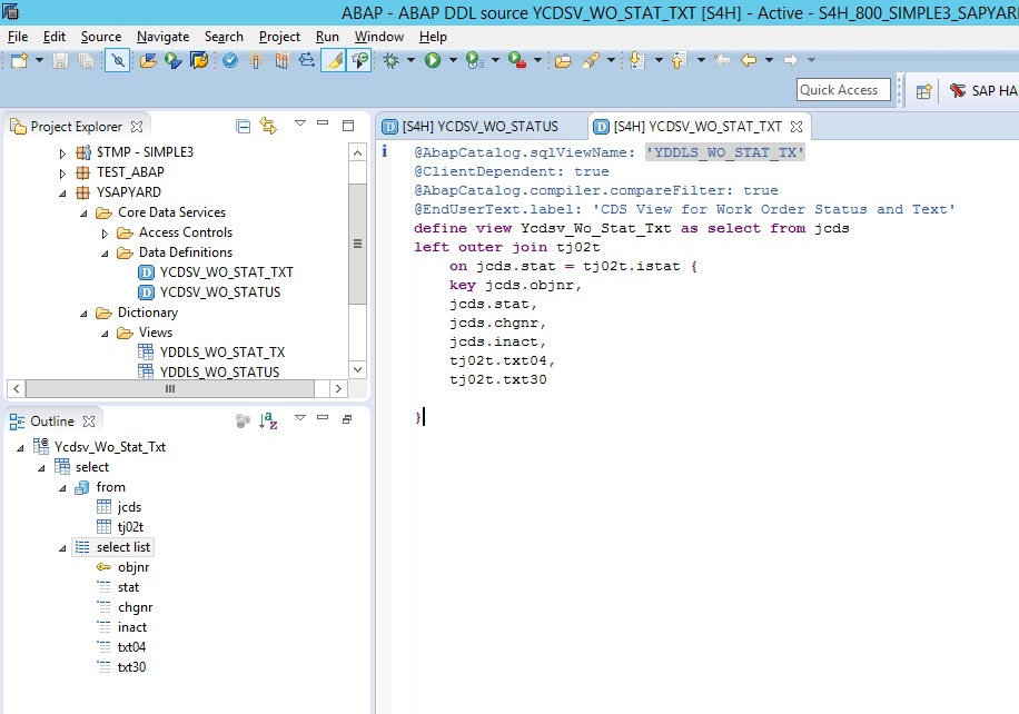 Join 4 tables abap : X real estate development xred query zambia