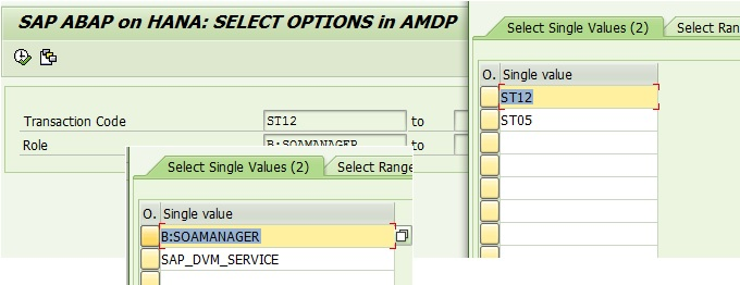 Handle SELECT OPTION in AMDP