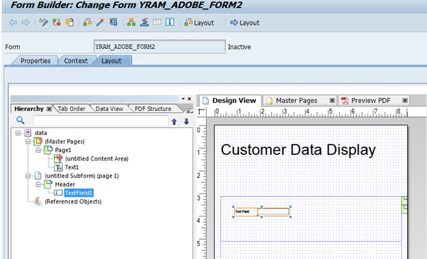 SAP Adobe Interactive Form Tutorial. Part II. Tables in Adobe Form |