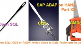 sap abap on HANA