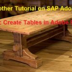 SAP Adobe Interactive Form Tutorial. Part II. Tables in Adobe Form
