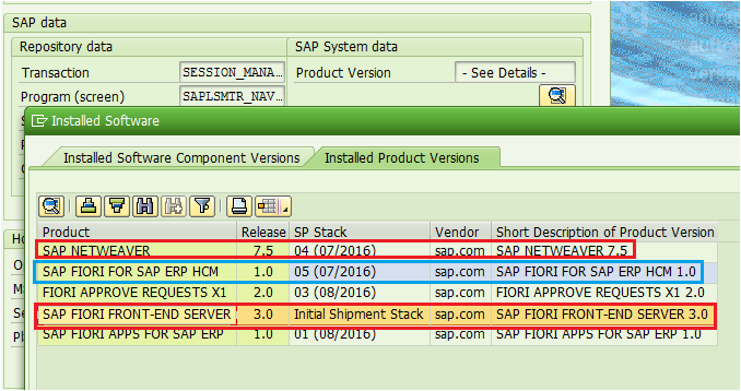 SAP FIORI FOR SAP ERP HCM 1.0 - SPS 05 (07/2016)