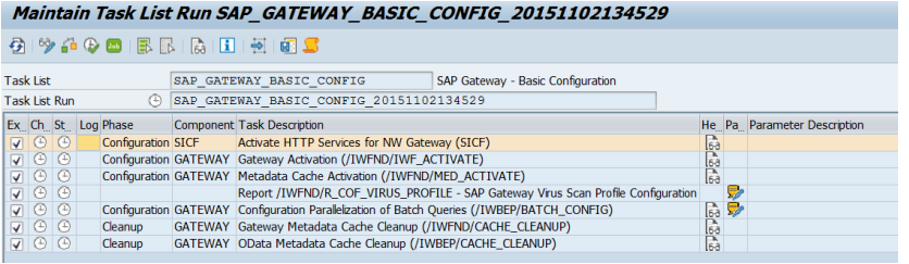 perform basic configuration steps for SAP Gateway.