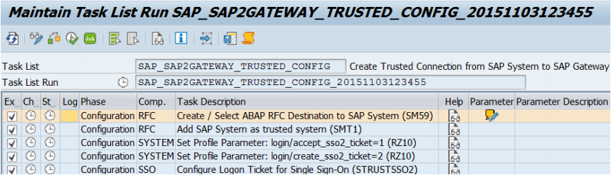trusted connection from an SAP system to SAP Gateway System