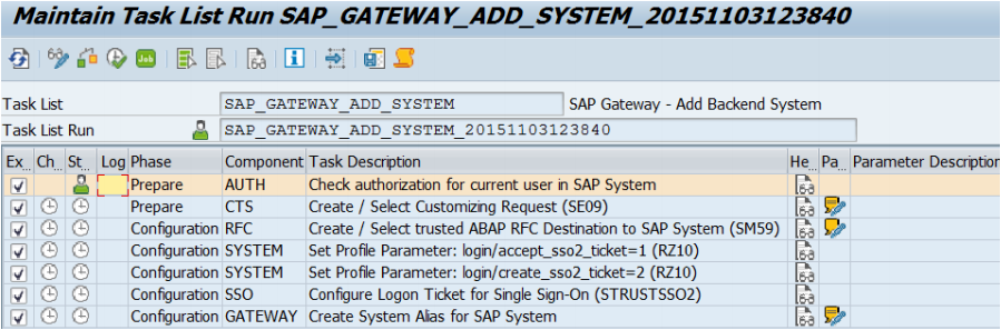 connect an SAP system (backend) to an SAP Gateway system (frontend)