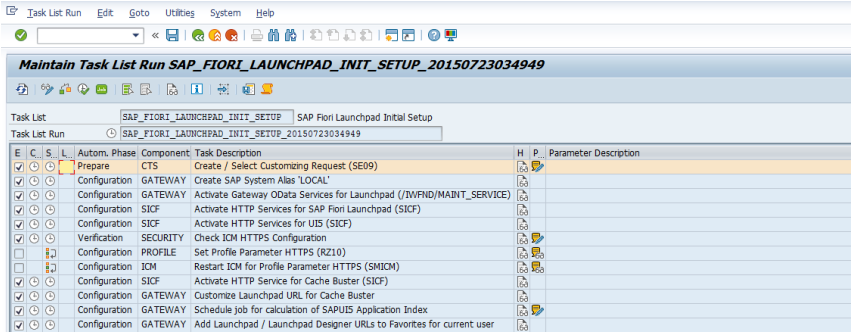 activate Launchpad OData and HTTP services on an SAP Gateway system (frontend).