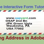SAP Adobe Interactive Form Tutorial. Part VI. Printing Address in Adobe Form