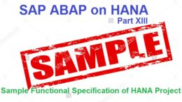 Free SAP HANA Training