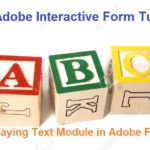 SAP Adobe Interactive Form Tutorial. Part VII. Displaying Text Module Texts in Adobe forms