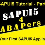 SAPUI5 Tutorial. Part VIII. Deploy my First SAPUI5 App in WebIDE
