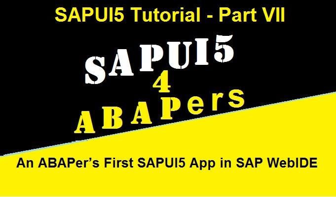 sapui5 for beginners