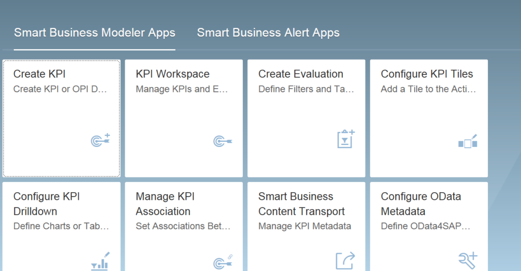 SAP Smart Business Service