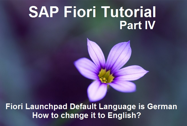 SAP Fiori Default Language in German