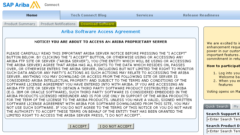 adapter package for ariba