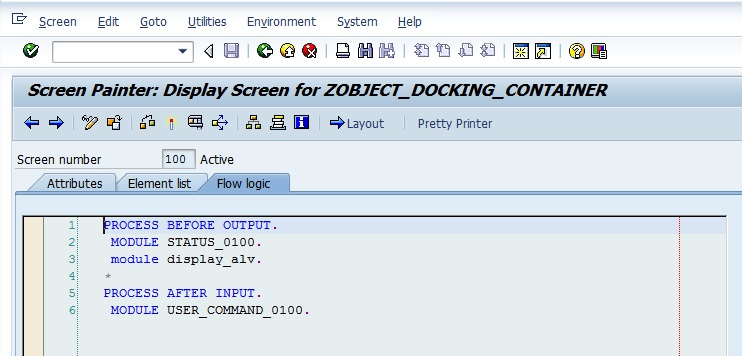 custom screen in SAP