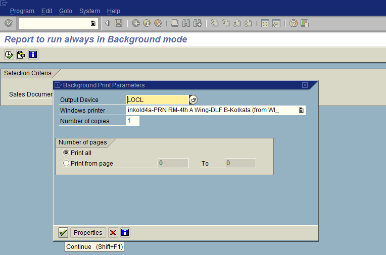 Background mode in SAP