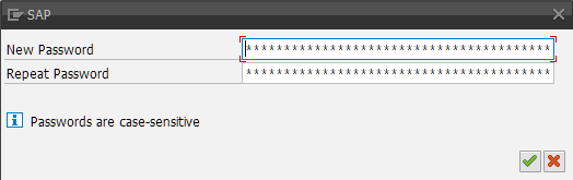 How to change password in SAP