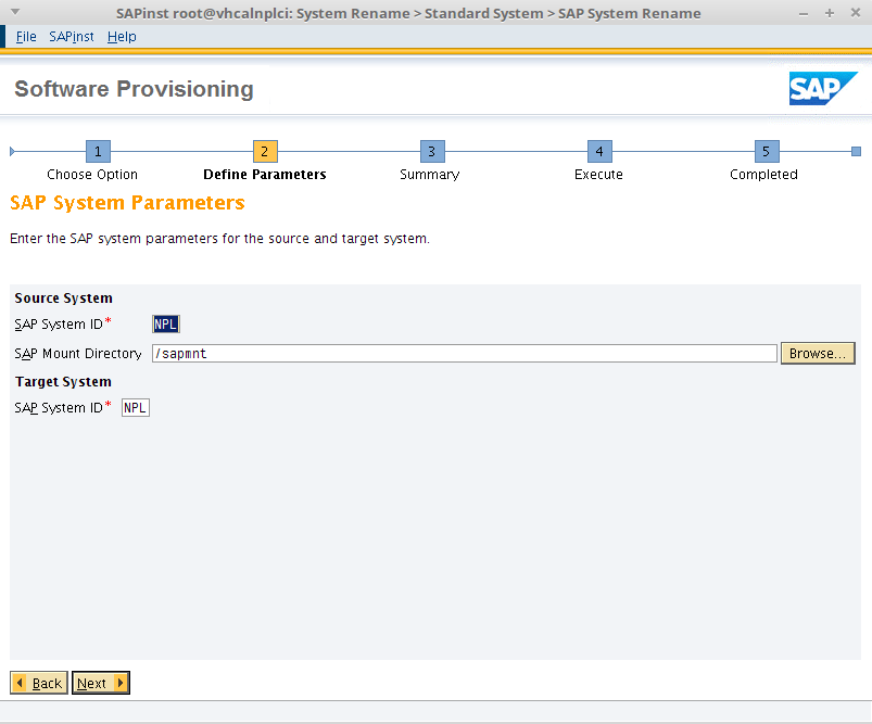 SAP System Parameters in miniSAP