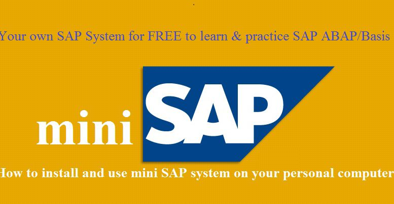 Free SAP System to Practice