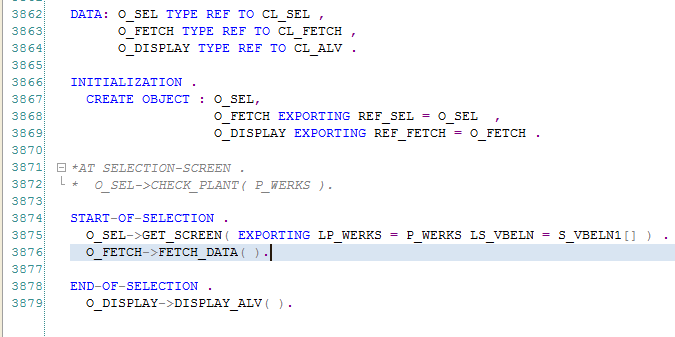 call abap objects in program