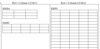 Nested Table in SAP