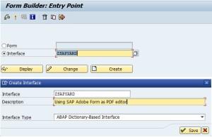 SAP Adobe Interface